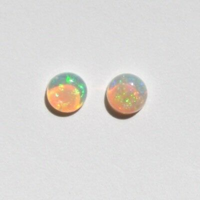 Australian Natural White / Light Opal  4.6Mm 4.7Mm 2P 0.59Ct  Round Loose Unset