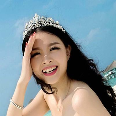 Wedding Bridal Women Girl Headband Party Prom Pageant Crystal Tiara Crown JS