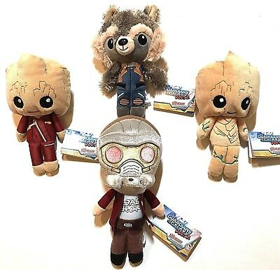 Funko Marvel GUARDIANS OF THE GALAXY Vol 2 Groot Rocket Star Lord Hero Plushies