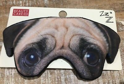 Cute Pug Puppy Sleep Mask. Adorable Eyes. Aus Seller. Prompt Delivery. 1-2 Days