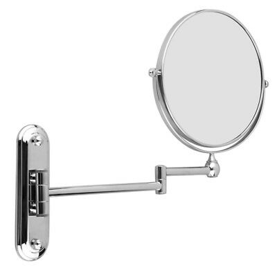 Wall Mounted Magnifying Swivel Bathroom Vanity Makeup Mirror Double Side Surface