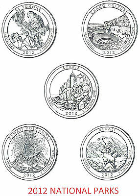 2012 National Park Quarters Complete P&d Set - 10 Coins ****in Stock****
