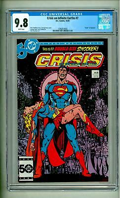 Crisis On Infinite Earths #7 Cgc 9.8 Death Of Supergirl 1985