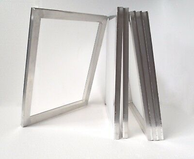"""4 pc Screen Printing Screen Frame 16""""x20"""" with 120 Mesh Stretched Aluminum Frame"""