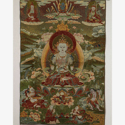Tibet Collectable Silk Hand Painted Buddhism  Portrait  Thangka RK035