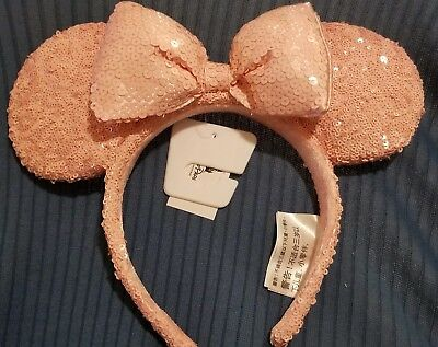 NEW Disney Minnie Mouse Ears Ear Headband - Millennial Pink