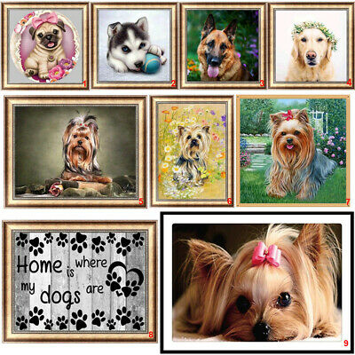 Dogs DIY 5D Diamond Painting Embroidery Animal Cross Stitch Kits Home Decor Art