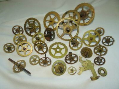 25 Vintage Clock Gears Various Sizes for Art and Steampunk Crafting