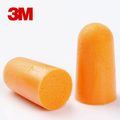 5 - 200Pairs 3M 1100 Disposable Foam Ear Plugs SNR 37dB Noise Reducer PACKS  UK