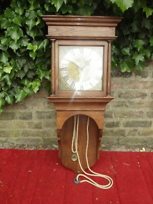 George 111 Antique Brass Dial Hooded Wall Clock Vgc... Sold For A Nurses Charity