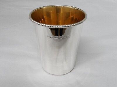 Solid Sterling silver Modern Tapered Beaker in Mint Condition