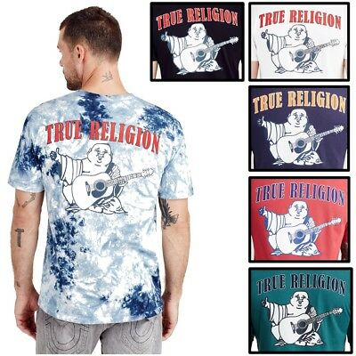 fd932ab85 TRUE RELIGION MEN'S Native Monogram Buddha Logo Print Tee T-Shirt ...