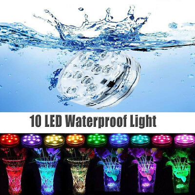 4PCS Swimming Pool Light RGB LED Bulb Remote Control Underwater Color Vase Decor