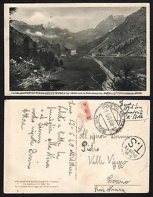 MAIL MILITARY 1940 Postcard by PM 208 in Haifa Vigezzo Valley (M4)