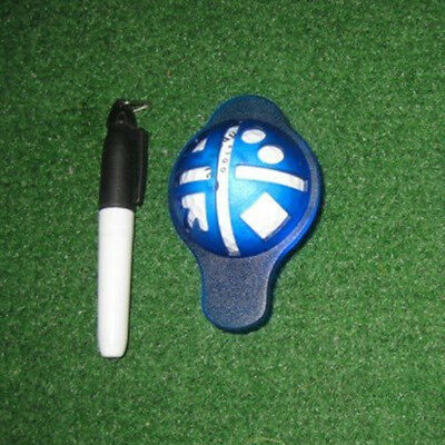 Golf Ball Line Liner Marker Template Drawing Alignment Sign Mark Tool with Pen