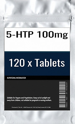 120 x 5-HTP 100mg Tablets : Depression Insomnia Anxiety Appetite Control Seroton