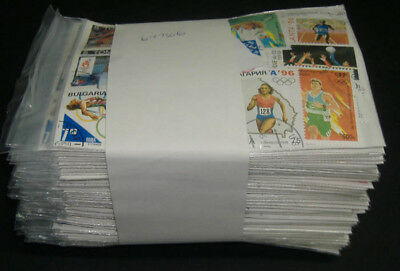 World: Olympic stamps (100 packs 70 diff = 7000) retail $500+ all large size CTO