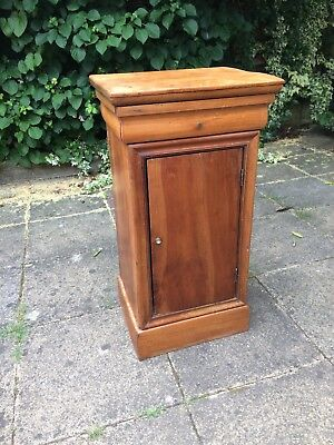 Bedside Table Cabinet Walnut French Antique Brocante