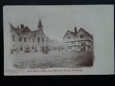 Worcestershire EVESHAM Old Booth Hall & Market c1905 Postcard by Baylis Series