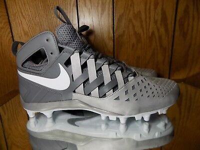 Nike Huarache V 5 LAX Lacrosse Football Cleats Size 11.5 White/Gray (807142-010)