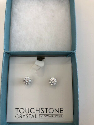 Touchstone Crystal by Swarovski Crystal earrings Gold Plating. New, never worn