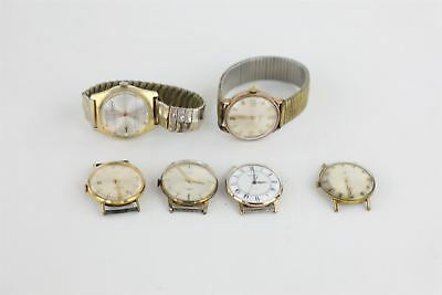 Lot of 6 x Vintage Gents Hand-Wind Wristwatches for SPARES inc Avia etc 212g