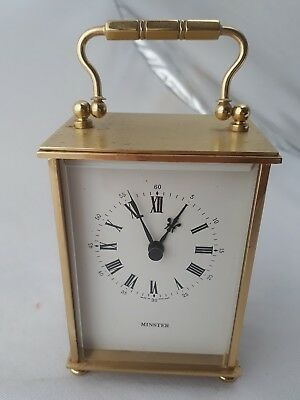 Vintage Minster Carriage Clock  Battery Operated