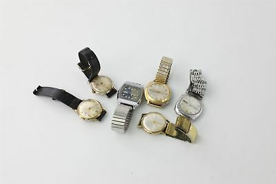 Lot of 6 x Vintage Hand-wind / Automatic Wristwatches for SPARES 322g