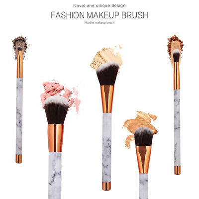 5pcs marble beauty toothbrush shaped  cream puff makeup brushes set kit