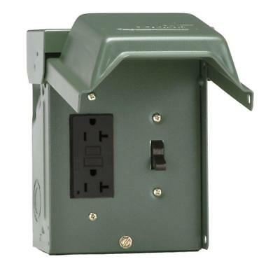GFI Receptacle Outlet GFCI 20-Amp Non-Fusible Circuit-Breaker Disconnect-Switch