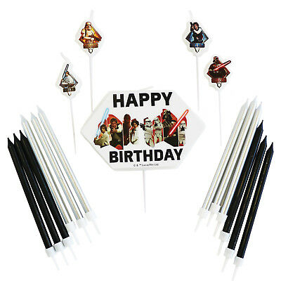 Star Wars Birthday Cake Candle Set Cake Topper Party Decorations Picks & Candles