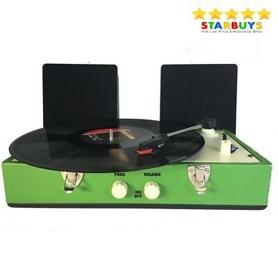 Retro Record Player Turntable Vinyl Stereo Player with Speakers - Classic