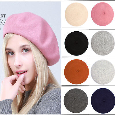 Unisex Women's Ladies Acrylic Wool French Beret Newsboy Hat Cap Winter Warm Hats