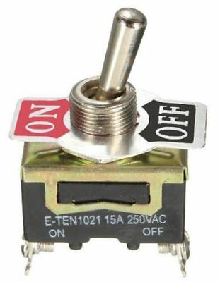 Heavy Duty Metal Toggle Switch - On / Off 12V 15 amp 250 Volt