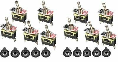 10 x Heavy Duty Metal Toggle Switch - On / Off 12V 15 amp 250 Volt