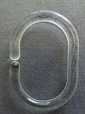 Croydex Clear Shower Curtain Rail C Rings Hooks Pack Of 12 - 6Cm Clear