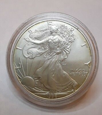 1996 Dollaro $1 USA in Capsula, 1oz. .999 Fine Silver Liberty Eagle [s45]