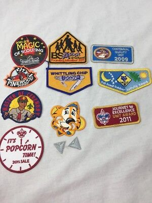 Lot of 10 boy scouts patches bsa