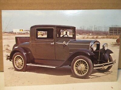 1929 Essex Super Six Coupe Postcard Vintage Car Advertising Unused