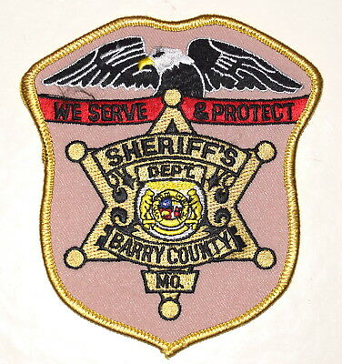 BARRY COUNTY MISSOURI MO Police Sheriff Patch EAGLE STAR ~