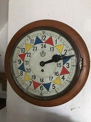 RAF Sector Wall Clock, Operations Room WW2 Battle Britain 1940's Fusee movement