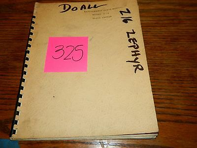 Doall M2-16 Original Replacement Parts Manual Lot # 325