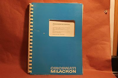 Cincinnati Programming Manual 5VC-750 Models C & D 91200078A