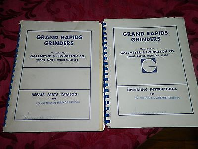 Gallmeyer & Livingston Surface Grinder Operation Manual Model 450 - 676 LOT #139