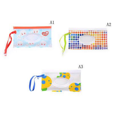 Wet Wipe Bag Cosmetic Pouch Easy-carry Snap-strap Wipe Container