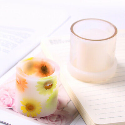 Plastic Cylinder Shape Candle Making Mould Soap Mold for DIY Scented Candles