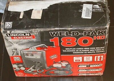 Lincoln Electric Weld-Pak 180HD Mig-Flux Cored Welding Machine NEW FREE SHIPPING