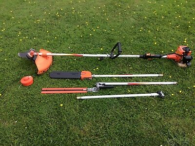 Long Handled Petrol 4 In 1 Hedge Cutter, Brush Cutter, Strimmer And Pole Saw