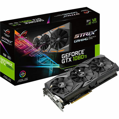 ASUS ROG STRIX GeForce GTX1080TI 11GB 5K HD HDMI DP DVI PC Gaming Graphics Card