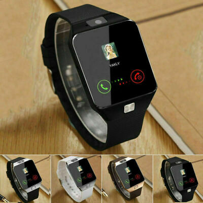 2018 DZ09 Bluetooth Smart Watch Phone +Camera SIM SLOT For Android IOS Phones UK